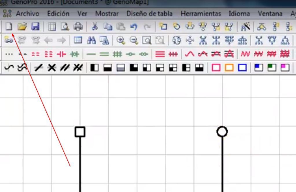 crear genograma con genopro tutorial guia español